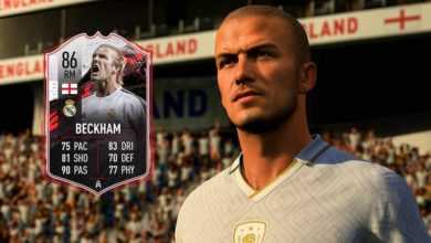 FIFA 21 sur PS5 et PS4 distribuant une carte David Beckham pour Ultimate Team